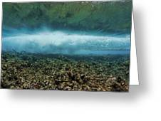 Under An Ocean Wave Greeting Card