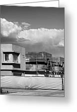 Under Construction Bw Palm Springs Greeting Card