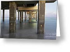 Under Dania Beach Pier Greeting Card