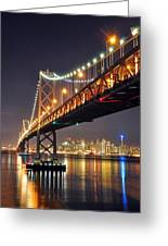 Under The Bay Bridge Greeting Card