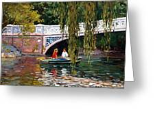 Under The Bow Bridge Central Park Greeting Card