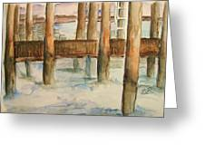 Under The Docks Greeting Card