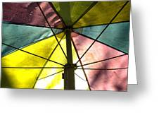 Under The Umbrella Greeting Card