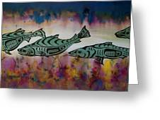 Underwater Color Greeting Card by Carolyn Doe