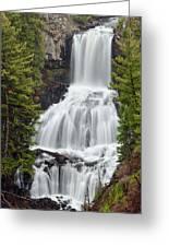 Undine Falls Yellowstone National Park Greeting Card