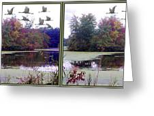 Unicorn Lake - Cross Your Eyes And Focus On The Middle Image Greeting Card