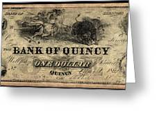 Union Banknote, 1861 Greeting Card
