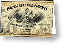 Union Banknote, 1863 Greeting Card