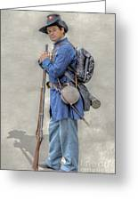 Union Civil War Soldier Black Hats Ver 2 Greeting Card