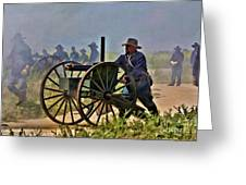 Union Gatling Gun Fire Greeting Card