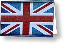 Union Jack Denim Greeting Card