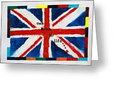 Union Jack One Team For Life Greeting Card