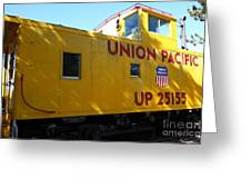 Union Pacific Caboose - 5d19205 Greeting Card by Wingsdomain Art and Photography