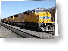 Union Pacific Locomotive Trains . 5d18820 Greeting Card