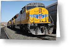 Union Pacific Locomotive Trains . 5d18824 Greeting Card