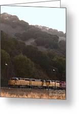 Union Pacific Locomotive Trains . 7d10553 Greeting Card