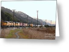 Union Pacific Locomotive Trains . 7d10558 Greeting Card