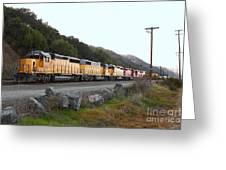 Union Pacific Locomotive Trains . 7d10564 Greeting Card