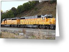 Union Pacific Locomotive Trains . 7d10572 Greeting Card