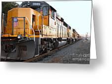 Union Pacific Locomotive Trains . 7d10588 Greeting Card