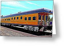 Union Pacific Observation Car In Hdr Greeting Card