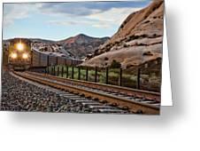 Union Pacific Tracks Greeting Card