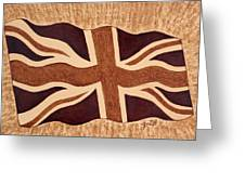 United Kingdom Flag Coffee Painting Greeting Card