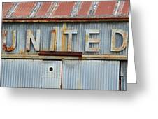 United Rusted Metal Sign Greeting Card