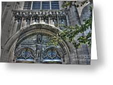 University Of Chicago Chapel Greeting Card