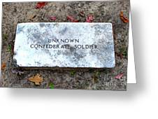 Unknown Confederate Soldier Greeting Card by Renee Trenholm