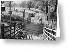 Unmanned Railway Crossing At Hope Greeting Card