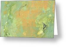 Untitled Abstract - Caramel Teal Greeting Card