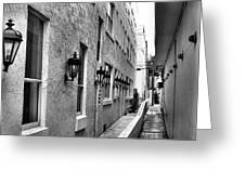 Up An Alley Greeting Card