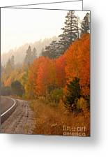 Up Around The Bend Greeting Card