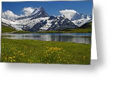 Up In The Bernese Alps Greeting Card