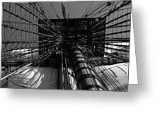 Up To The Crow's Nest - Monochrome Greeting Card