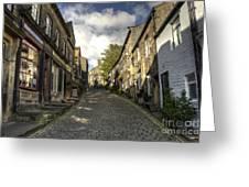 Uphill At Haworth Greeting Card