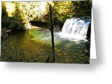 Upper Butte Creek Falls And Plunge Pool Greeting Card