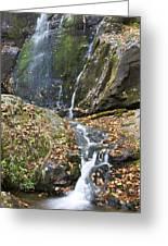 Upper Dark Hollow Falls In Shenandoah National Park Greeting Card