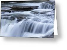 Upper Falls Detail Greeting Card