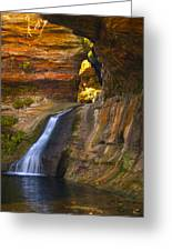Upper Falls Of Hocking River Greeting Card
