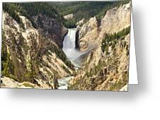 Upper Falls Yellowstone Greeting Card