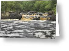 Upper Gabbro Falls Greeting Card