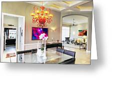 Upscale Dining Room Interior Greeting Card