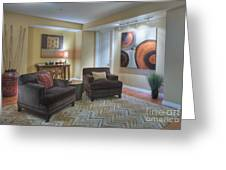 Upscale Living Room Interior Greeting Card