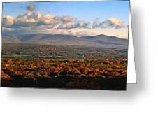 Upstate Ny Panorama Greeting Card