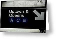 Uptown Train Greeting Card