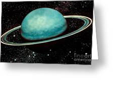 Uranus With Its Rings Greeting Card