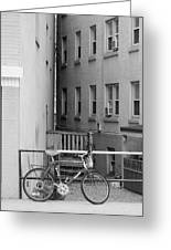 Urban Convergence Black And White Greeting Card