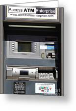 Urban Fabric . Automatic Teller Machine . 7d14178 Greeting Card by Wingsdomain Art and Photography